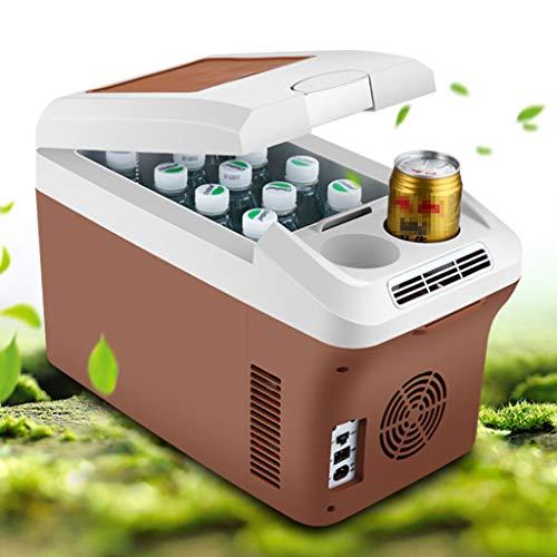 WERT 15 L Kühlbox Elektrisch Zum Ziehen Warmhaltebox Groß Kühltasche Für Auto Und Steckdose 12v 220v 30 cm,Brown