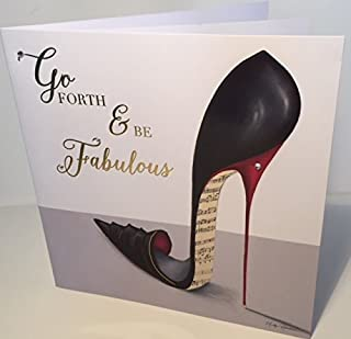 MARANDA-TI PIANO SHOES Glamour Birthday Greeting Card by Marilyn Robertson - 6.25 x 6.25 inches