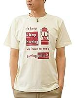 (ジーンズバグ)JEANSBUG LANTERN オリジナル アウトドア ランタン プリント 半袖 Tシャツ メンズ レディース 大きいサイズ ST-LANT XL ナチュラル(19)