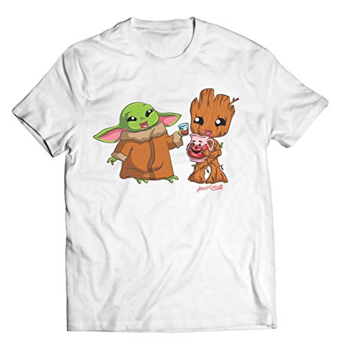 Cute Aliens Shirt - Cotton Quality Print - Casual TShirt, Funny Shirts, Graphic Fun T-Shirts, Geek Nerd 90s Old School, Gift For Her