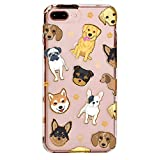 Velvet Caviar for Cute iPhone 8 Plus Case & iPhone 7 Plus Case Dog Clear for Women & Girls - Protective Phone Cases [Drop Test Certified] (Pug, French Bulldog, Golden, Yorkie)