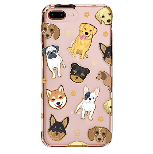 Velvet Caviar Compatible with iPhone 7 Plus Case & iPhone 8 Plus Case Dog for Women & Girls - Cute Clear Protective Phone Cases (Pug, French Bulldog, Golden, Yorkie)