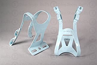 Soma Oppy XX 2-Strap Toe Clips Light Blue L/XL Pair Track Fixed Road Bike