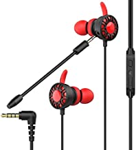 XuBa Gaming Earphone 7.1 Headset Helmets with Dual Mic Gaming Earphones PC Gamer with Volume Control for PS4 CSGO Casque Games red