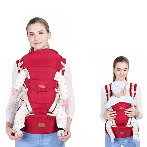 PENGYUYAN Transpirable Mochila Portabebes, Retirable diseño clásico Ergonómico Multifuncional Super Practico, Manos Libres Red