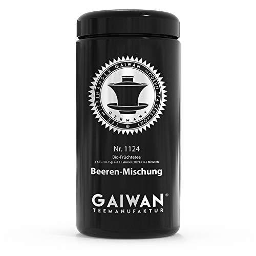 GAIWAN 1124 - Bote de cristal para té suelto, color negro, hermético, 250 g, 500 g, 1000 g, con etiquetado para té