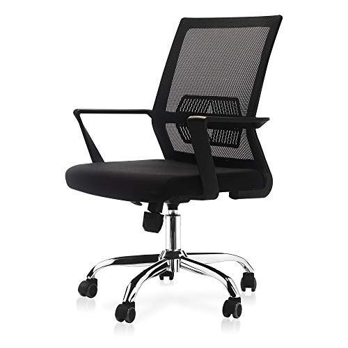 Rocstoc Ergonomic Office Chair [Black], Mesh Home Office Chair, Comfortable Reclining Desk Chair with Lumbar Support, Adjustable Swivel Computer Task Chair Chairs Desk Dining Features Home Kitchen Office