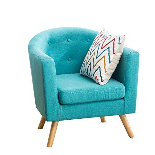 OCYE Sofá Moderno Moderno, sillón reclinable para Sala de Estar, sillón de Lectura para sofá, Asientos para Cine en casa, Patas de Madera de Caucho, con reposabrazos, 70 × 65 × 78 cm