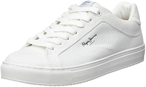 Pepe Jeans London Adams Samy, Zapatillas para Mujer, Blanco (Optic White 802),...