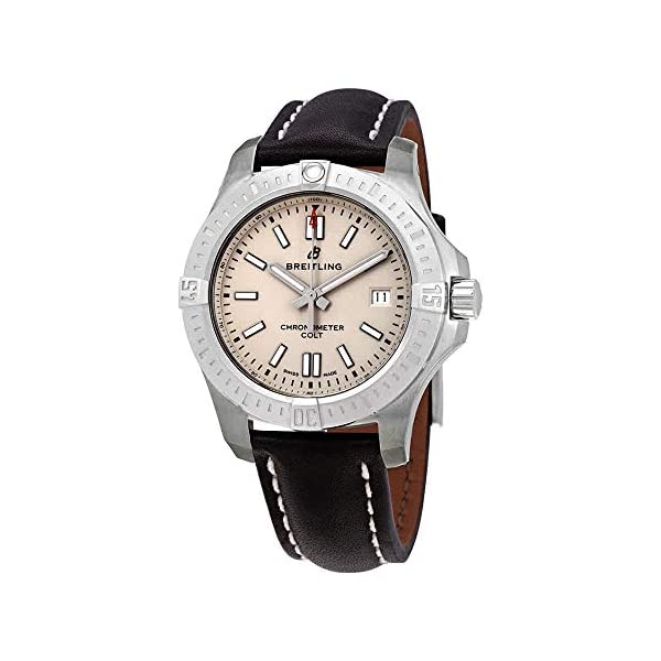 Breitling Watches Breitling Chronomat Colt Automatic 41 Steel on Black Leather Men's Watch –