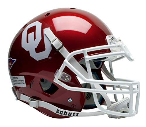 Schutt NCAA On-Field Authentic XP Football Helmet, Oklahoma Sooners