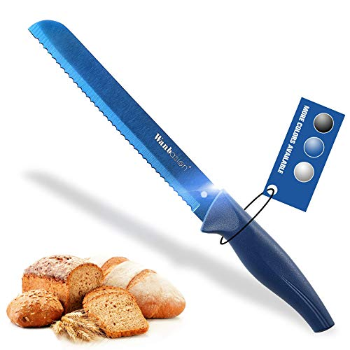 Wanbasion Blue Serrated Bread Knife