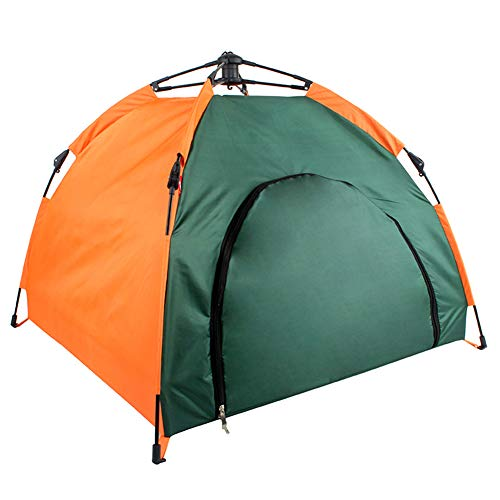 Outdoor Semi-Automatic Pet Tent Rainproof And Sunscreen Portable Pet Litter Car Automatic Breathable Washable Drawstring Collapsible Small Animals Shelter 1PC