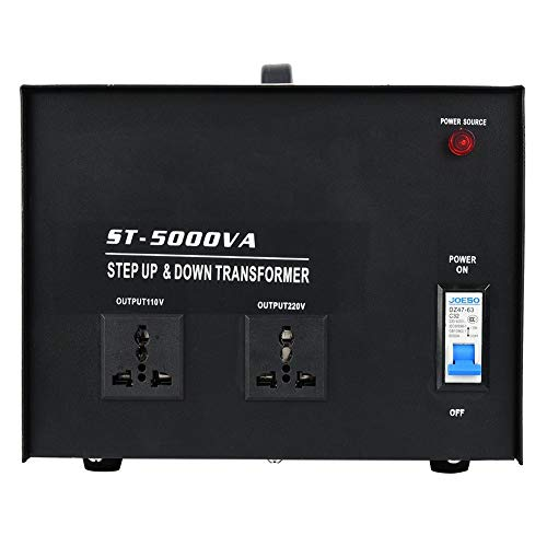 Convertidor de voltaje monofásico, protección contra sobrecarga del disyuntor incorporado, ST-5000VA, entrada...
