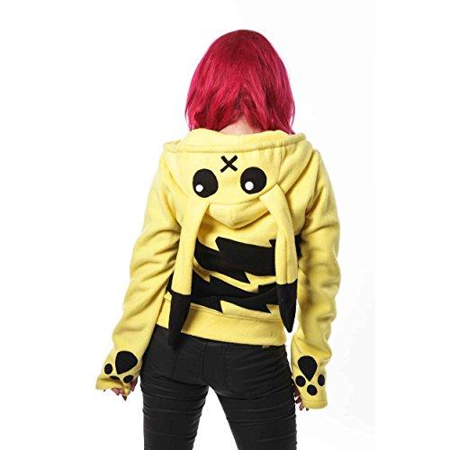 Cupcake Cult - Pokemon Hoodie Fleece-Jacke, gelb, Grösse L
