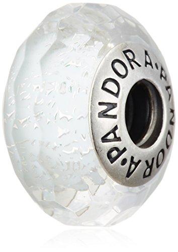 Abalorio Pandora 791656 Plata Cristal de Murano Menta Glaciar