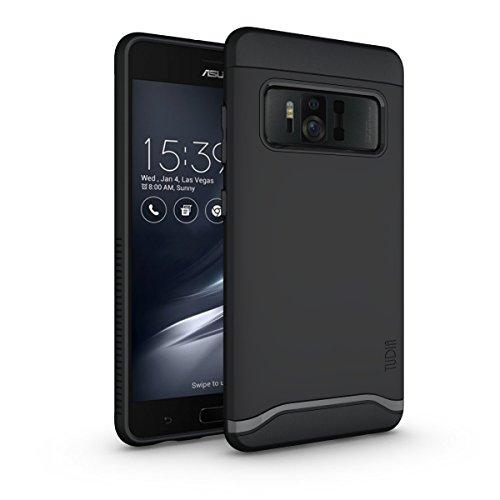 TUDIA Asus ZenFone AR Hülle, Slim-Fit Merge Dual Layer Schutzhülle für Asus ZenFone AR (ZS571KL) (Matte Black)