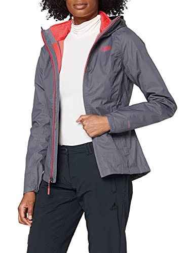 The North Face W Tri Jkt Chaqueta Tanken Triclimate, Mujer, Grisaille Grey/Atomic Pink, XS