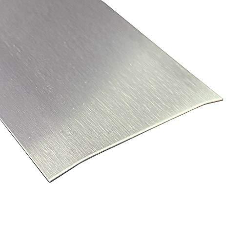 Übergangsprofil, Edelstahl k240 geschliffen 0,8 mm stark, Übergangsprofile, 1250 x 120 mm Übergangsleiste,Übergangsschiene