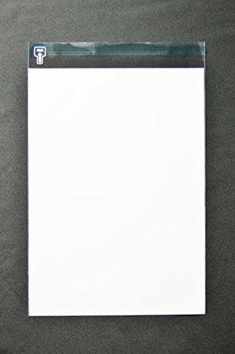 印刷OPP袋 角2 【500枚】 40μ(0.04mm) 表:白ベタ 切手/筆記可 静電気防止処理テープ付き 折線付き 横240×縦332+フタ36mm