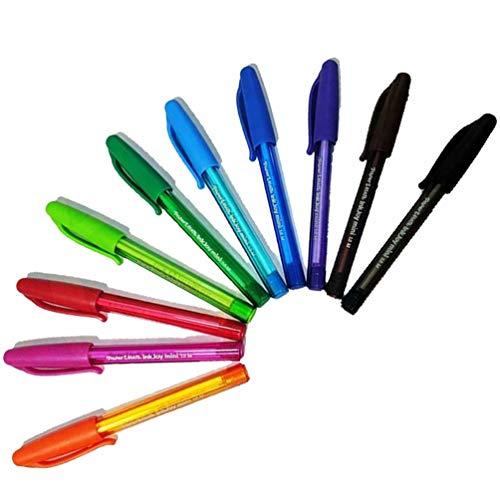 Paper Mate InkJoy Mini Bolígrafos de punta media, 1 mm, varios colores para uso en oficina, escuela y hogar [paquete de 10] (embalaje OEM, embalaje no al por menor)