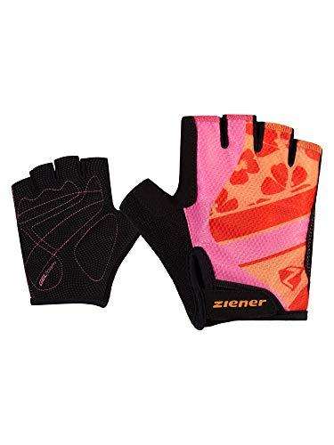 Ziener Unisex Kinder CIELLE Fahrrad-, Mountainbike-, Radsport-Handschuhe | Kurzfinger - atmungsaktiv/dämpfend, pink dahlia, M