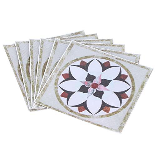 URRNDD Pegatinas de Azulejos Autoadhesivas para Sala de Estar decoración del hogar Pegatinas de Pared Impermeables Pegatina Diagonal 20 Piezas