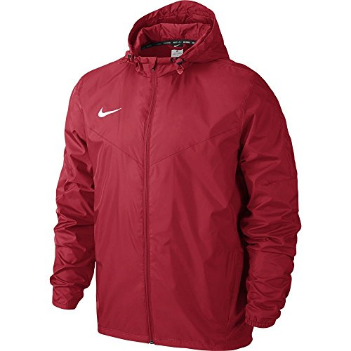Nike Team Sideline Rain Jacket Chaqueta Impermeable, Hombre, Rojo / Blanco (University Red / White), S