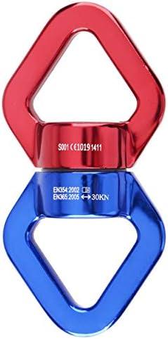 TRIWONDER Rotator Pivot de Rotation 30 KN 360 Degr 233;s Connecteur Pivotant Appareil224; Suspendre pour Sauvetage Yoga Escalade