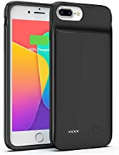 OMEETIE Battery Case for iPhone 8 Plus/7 Plus/6s Plus/6 Plus, Extend 120% Battery Life 5000mAh Portable Charging Case, Backup Charger Case Compatible with iPhone 8 Plus/7 Plus/6s Plus/6 Plus.