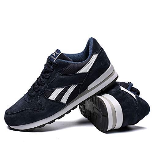 Herren Turnschuhe,Neue Trendsportschuhe Herren Jugend Herrenschuhe Bequeme leichte Laufschuhe Stoßdämpfer Freizeitschuhe (42, Dunkelblau)