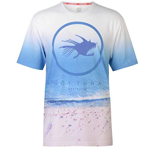 Hot Tuna Hombre Suburb Camiseta Manga Corta Blue Beach M