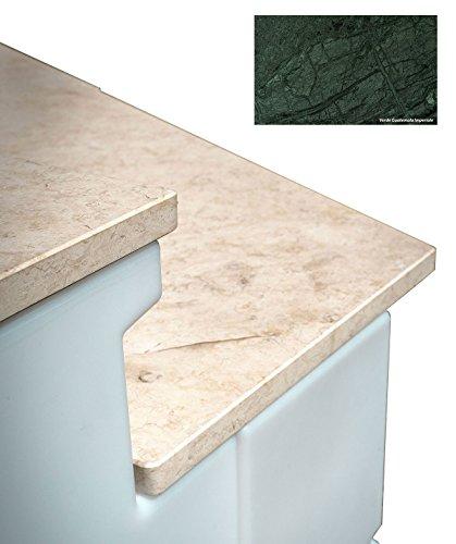 TERAPLAST Tera Comptoir Wave Short avec marbre Made in Italy