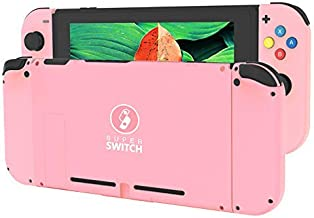 [Update Version] DIY Replacement Housing Shell Case Set for Switch NS NX Console and Right Left Switch Joy-Con Controller Without Electronics (Set-RSPK)