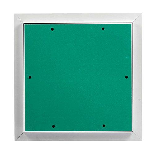 MW multi werkzeug Revisionsklappe 200 x 300 mm mit 12,5mm GK-Einlage imprägniert für Feuchtraum geeignet Aluminium-Rahmen weiß pulverbeschichtet 20 x 30 cm