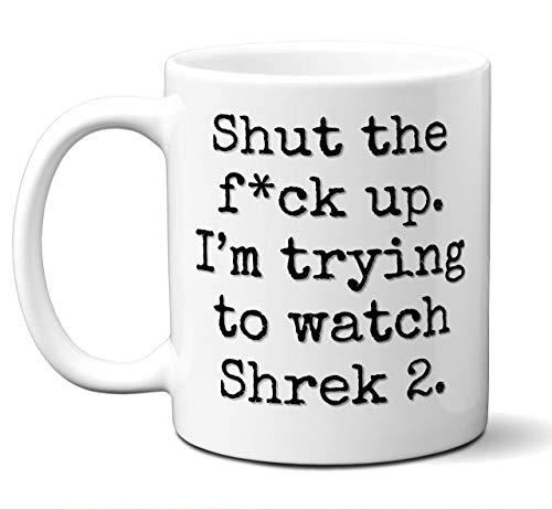 N\A aza de Regalo Shrek 2. Divertida Parodia Amante de la película Fan 'Cállate I' M Intentando Mirar '. Póster, Hombres, Mujeres, Cumpleaños, Navidad, Día del Padre, Día de la Madre