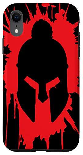 iPhone XR Spartan Helmet in Blood | Greek Mythology Gift For A Warrior Case