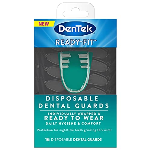 DenTek Ready-Fit Disposable Dental Guards for Nighttime Teeth Grinding, 16 Count, Clear/no color