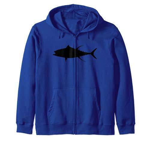 El atún de aleta amarilla Sudadera con Capucha