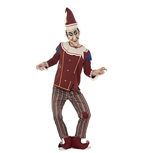 SMIFFYS Costume Possessed Punch, Multicolore, con top, pantaloni, cappello, copristivali