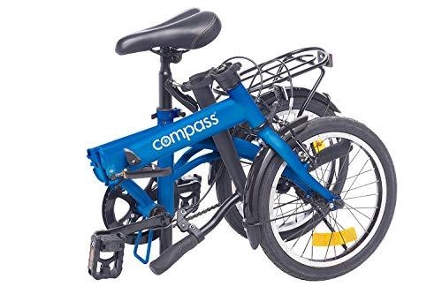 Compass Faltrad 16 Zoll Stahl blau, Klapprad, Klappfahrrad, leicht und robust Farbe blau - 2