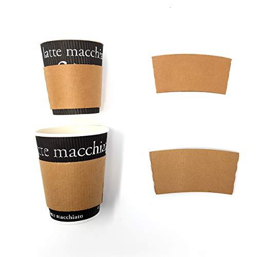 Kaffeebecher-Griffhülle, Becher-Jacket aus Pappe, Kaffee-Becher-Manchette, Becherschutz für 0,3 l oder 0,2 l, 1000 Stück, Größe:0.2 l