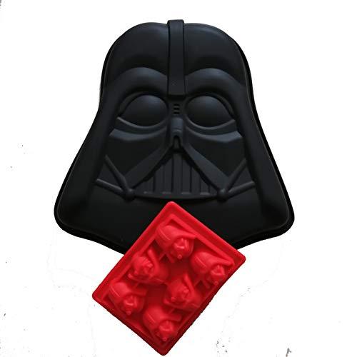 POIUY Küchenfans Star Wars Darth Vader Helm Siliocne Geburtstagstorte Dekorieren Pan Mould Ice Tray/Schokoladenform