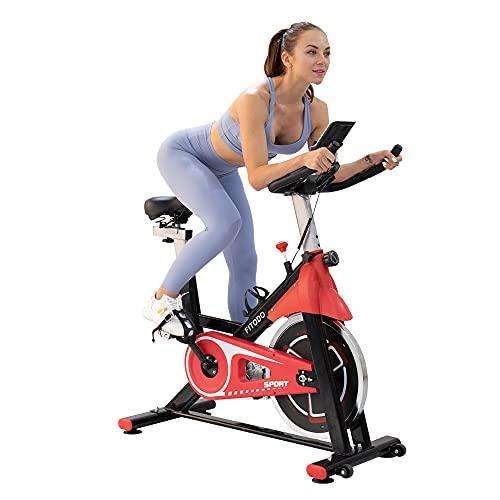 FITODO Cyclette da Casa con Comodo Sedile Super Morbido E Barra di Estensione del Sedile Aggiornata