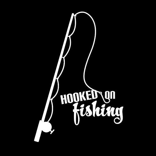 JPDP 10.2cm*4.1cm Gone Fishing Hooke Car Styling Vinyl Car Sticker S4-0721 Black