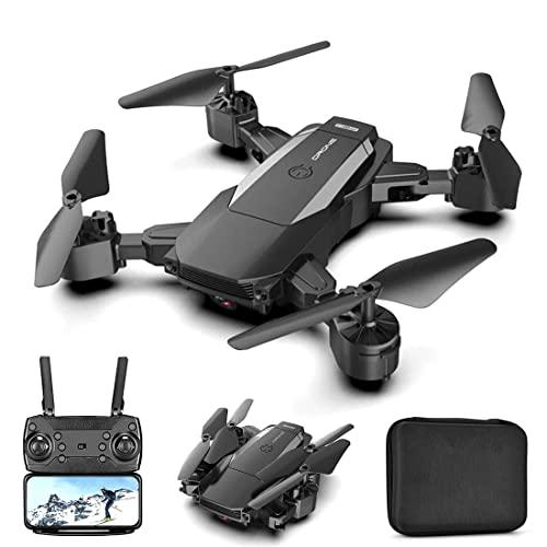 JJDSN Drone con Fotocamera per Adulti 4K Ultra HD FPV Live Video grandangolare Regolabile, Quadricottero RC con Mantenimento dell'altitudine, modalità Senza Testa, Selfie con gesti, funzioni waypo