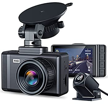 JOMISE F3S Dual Dash Cam 1296P Max Front and Rear 1080P Full HD Dash Camera with 2.35  LCD 170° Wide-Angle Lens WDR G-Sensor Night Vision Loop Recording Support 128GB Max