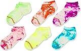 Gold Toe Girls Liner Socks, 6-Pairs, Light Tie Dye, Youth Large