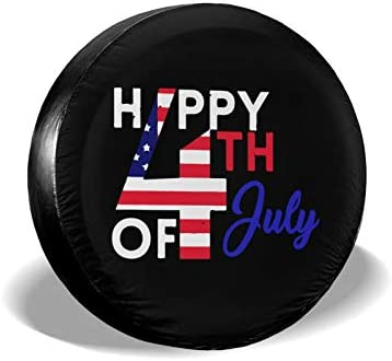 JT270 Modern Style Dustproof and Waterproof Tire Cover Happy 4th July Independence Day Universal product image