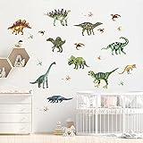 RosewineC Dinosaurier Wandsticker,Wandaufkleber Wanddeko für Junge Wohnzimmer Deko,Dino Wandsticker für Schlafzimmer Babyzimmer Junge Kindertapete Leuchtsticker